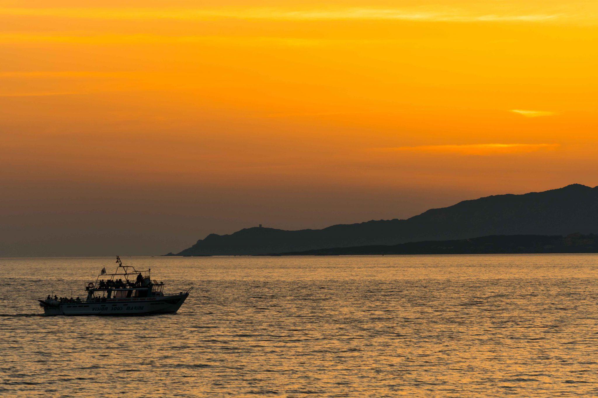 Promenade en mer à Propriano en corse du sud
